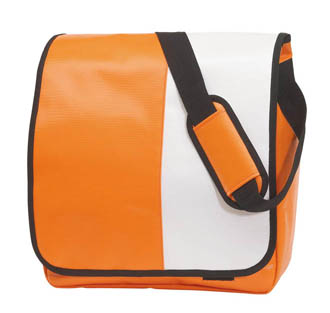 orange-blanc - Sac avec rabat Action