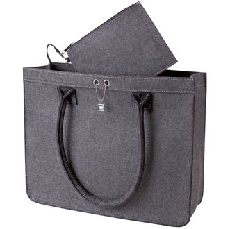anthracite - Sac Shopping Ville en feutrine