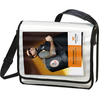 blanc - Sacoche publicitaire. DisplayBag horizontal
